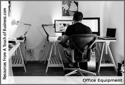 Image of a man working in an office