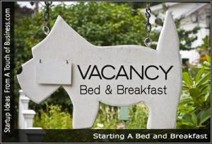 A vacancy sign for a bed and breakfast