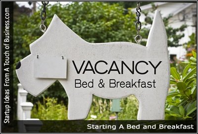 Image of a sign reading Bed and Breakfast