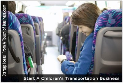 Image of children on a bus