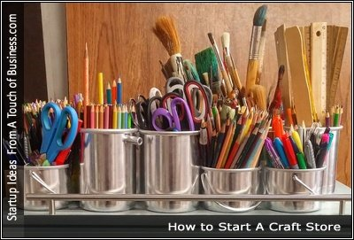 Image of craft supplies on a table
