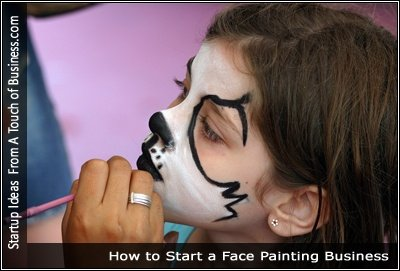 Image of someone painting the face of a child