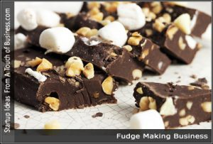 Dark fudge with nuts and white marsh mellows