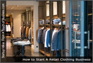 Men's clothing store stocked with suits shirts and belts