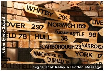 Image of a variety of signs