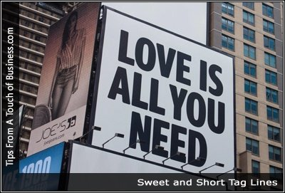 Image of a sign reading love is all you need