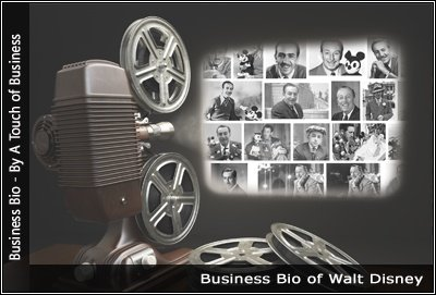 Image of a projector displaying images of Walt Disney