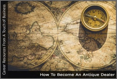 Image of an old map and compass