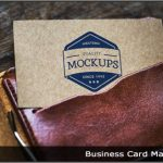 Image of a business card in a wallet