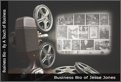 Image of a projector displaying images related to Jesse Jones