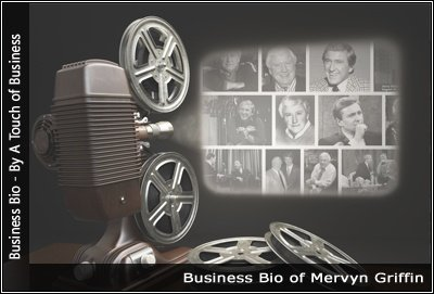 Image of a projector displaying images related to Mervyn Griffin