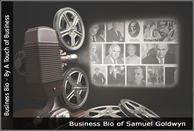 Image of a projector displaying images related to Samuel Goldwyn