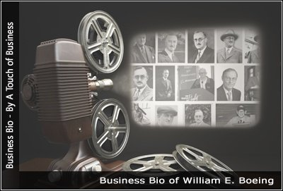 Image of a projector displaying images related to William E. Boeing