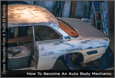 Image of the body of a car being repaired
