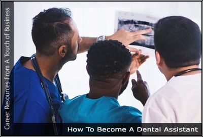 Image if a dentist looking at an x-ray