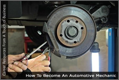 Image of someone working on automotive brakes