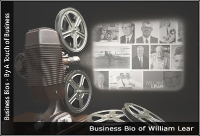 Image of a projector displaying images related to William Lear