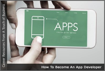 Image of someone holding a phone displaying the word Apps