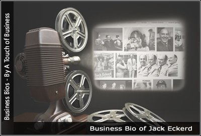 Image of a projector displaying images related to Jack Eckerd