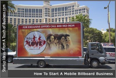 Image of Billboard on the back of a truck