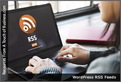 Image of the RSS symbol on a computer screen