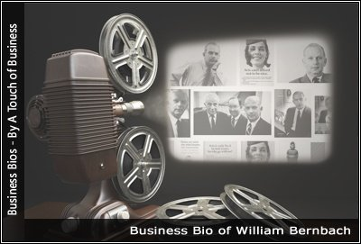 Image of a projector displaying images related to Rochelle Lazarus William Bernbach