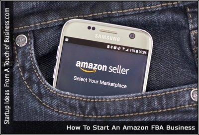 Image of a cell phone in a jean pocket displaying the amazon seller page