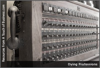 Image of an antique switchboard