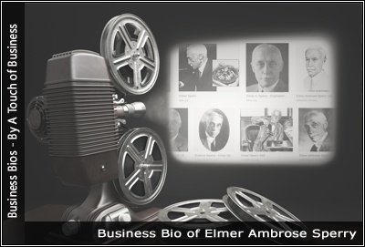 Image of a projector displaying images related to Elmer Ambrose Sperry