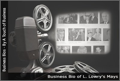 Image of a projector displaying images related to Steve Ross L. Lowry's Mays