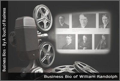 Image of a projector displaying images related to William Randolph Hearst
