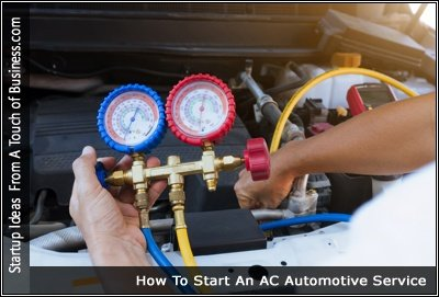 Image of someone checking the AC system of a car