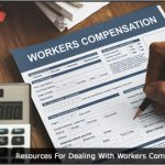 Image of someone filling in a workers compensation form